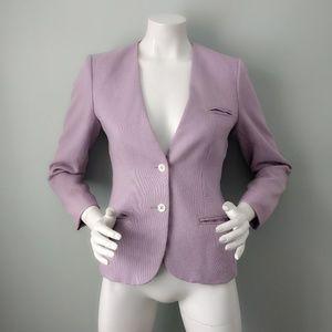 Vintage Jones New York Lilac Pastel Linen Blazer S